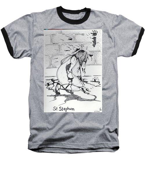 St Stephen Baseball T-Shirt by Loretta Nash