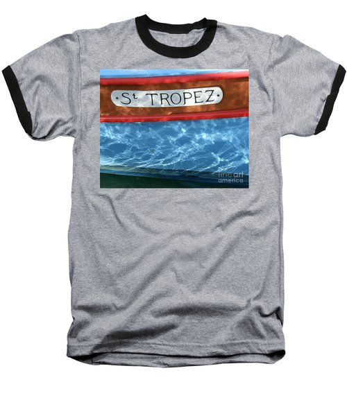 St. Tropez Baseball T-Shirt by Lainie Wrightson
