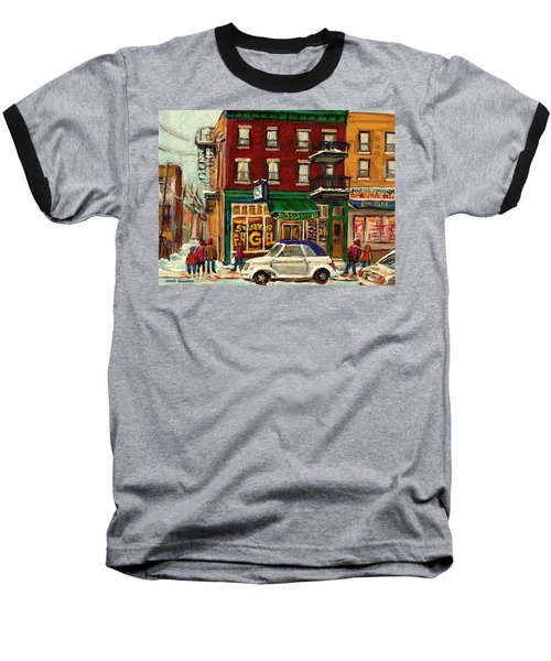 St Viateur Bagel And Mehadrins Deli Baseball T-Shirt