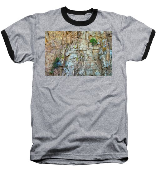 Baseball T-Shirt featuring the photograph St Vrain Canyon Wall by James BO Insogna