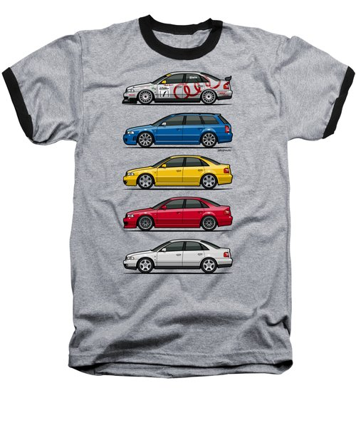 Stack Of Audi A4 B5 Type 8d Baseball T-Shirt