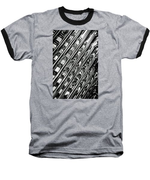 Stacked Chairs Abstract Baseball T-Shirt by Bruce Carpenter