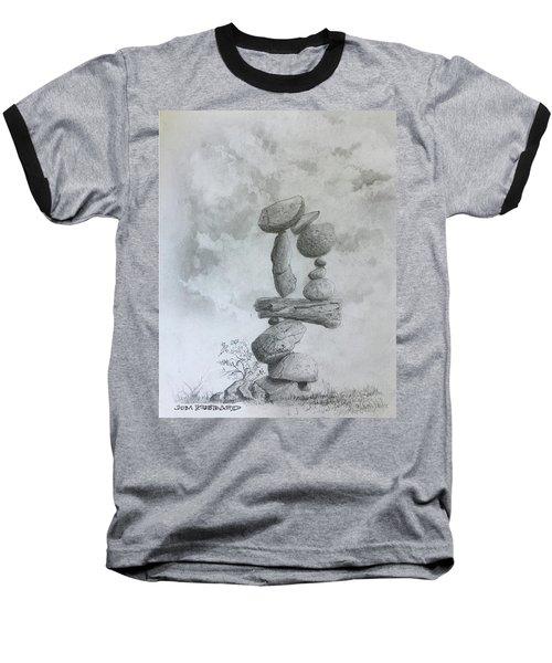 Stacked Rocks Circle Baseball T-Shirt