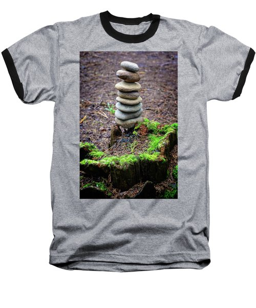 Baseball T-Shirt featuring the photograph Stacked Stones And Fairy Tales II by Marco Oliveira
