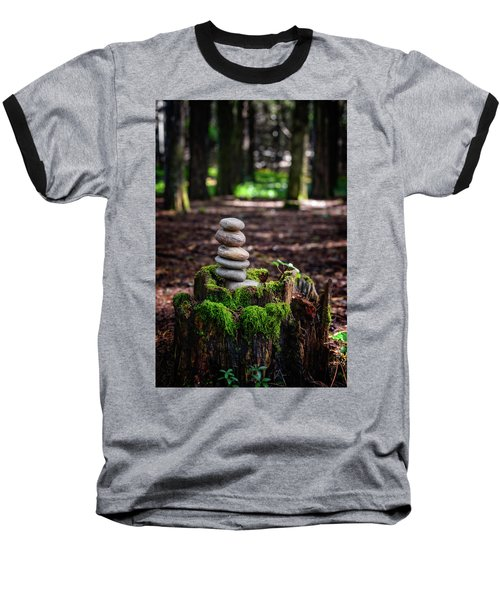Baseball T-Shirt featuring the photograph Stacked Stones And Fairy Tales IIi by Marco Oliveira
