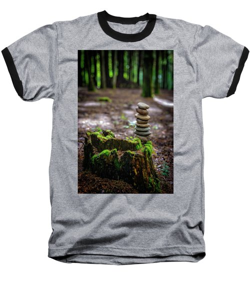 Baseball T-Shirt featuring the photograph Stacked Stones And Fairy Tales by Marco Oliveira