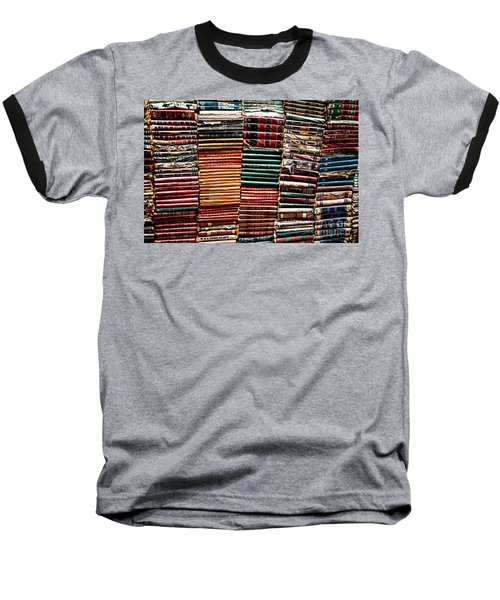 Stacks Of Books Baseball T-Shirt