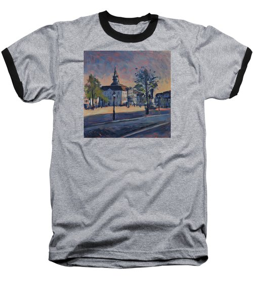 Baseball T-Shirt featuring the painting Stadhuis Maastricht by Nop Briex