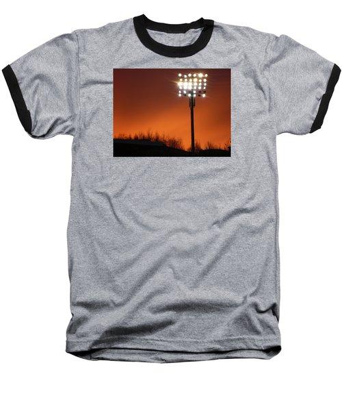 Stadium Lights Baseball T-Shirt by RKAB Works