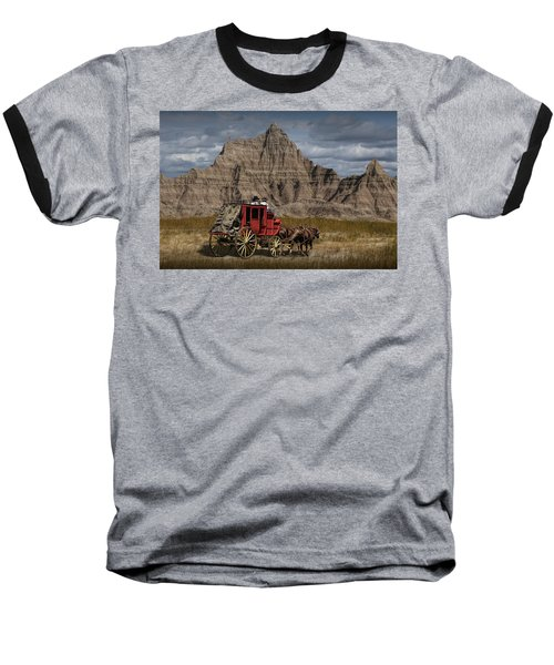 Stage Coach In The Badlands Baseball T-Shirt