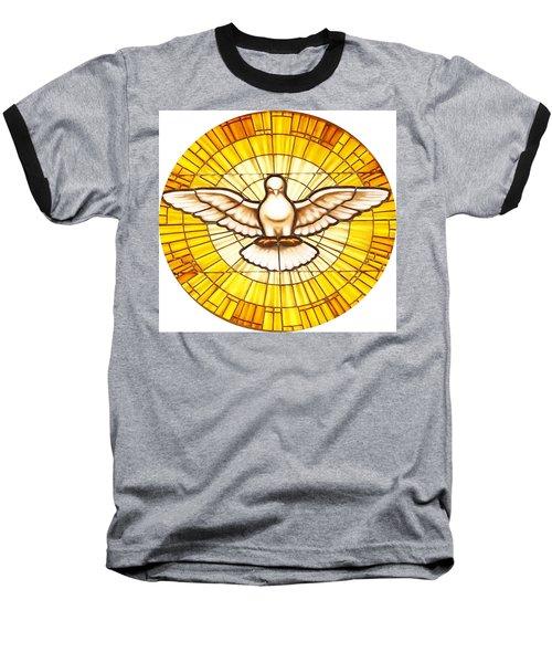 Stain Glass Dove Baseball T-Shirt