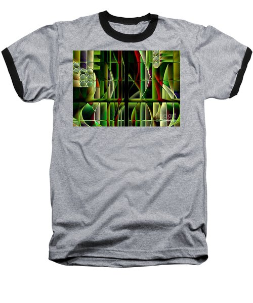 Stained Glass 2 Baseball T-Shirt
