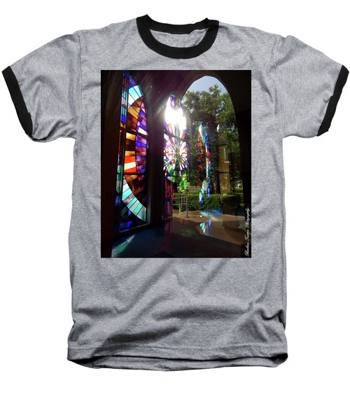Stained Glass #4720 Baseball T-Shirt