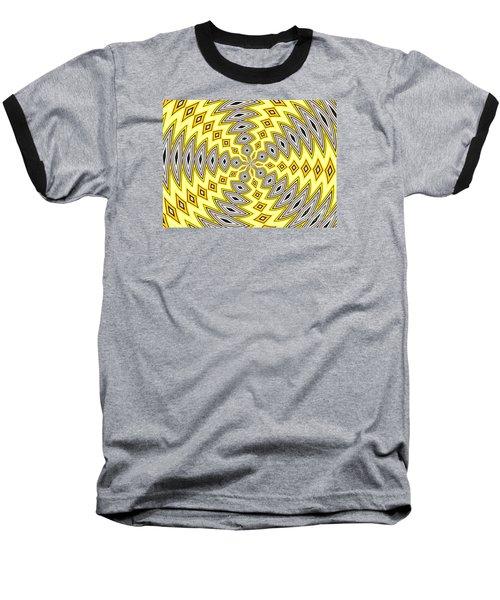 Stained Glass Kaleidoscope 18 Baseball T-Shirt by Rose Santuci-Sofranko
