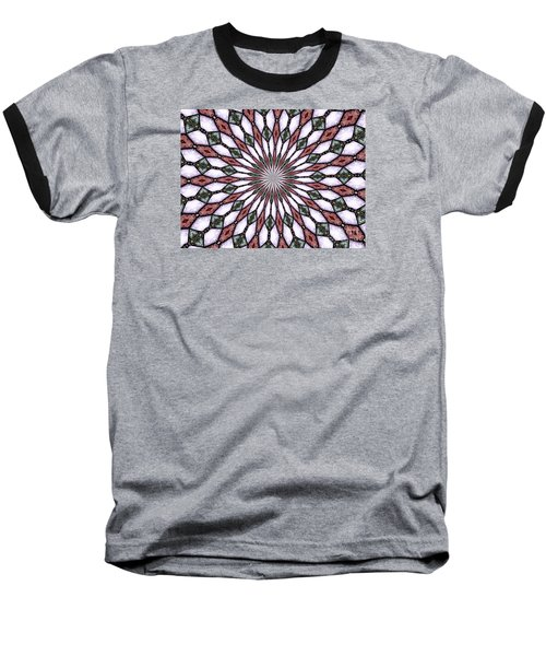 Baseball T-Shirt featuring the photograph Stained Glass Kaleidoscope 2 by Rose Santuci-Sofranko