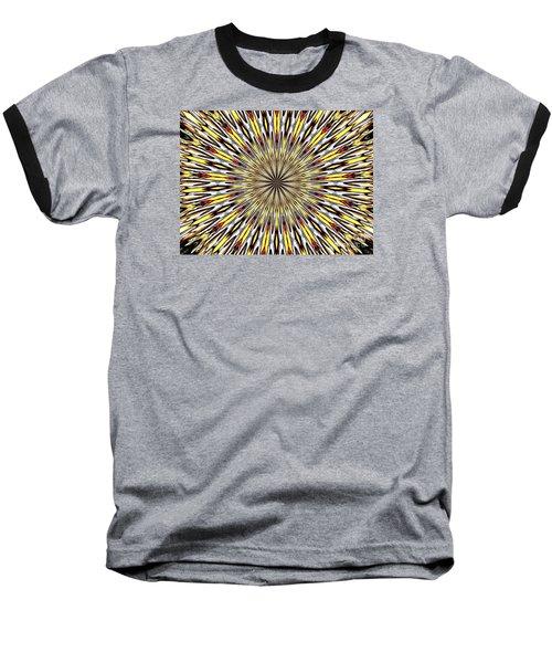 Stained Glass Kaleidoscope 22 Baseball T-Shirt by Rose Santuci-Sofranko