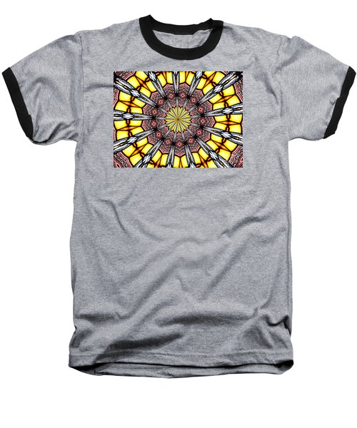 Baseball T-Shirt featuring the photograph Stained Glass Kaleidoscope 23 by Rose Santuci-Sofranko