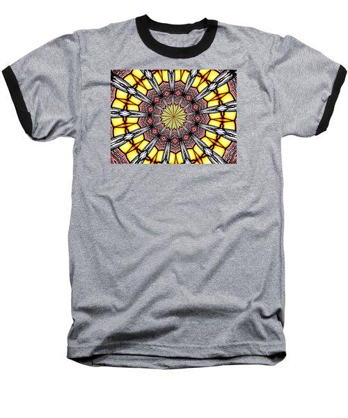 Stained Glass Kaleidoscope 23 Baseball T-Shirt by Rose Santuci-Sofranko