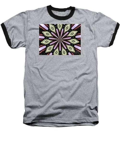Baseball T-Shirt featuring the photograph Stained Glass Kaleidoscope 25 by Rose Santuci-Sofranko