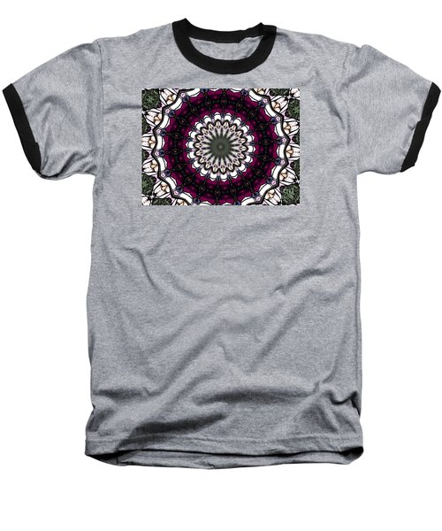Stained Glass Kaleidoscope 4 Baseball T-Shirt by Rose Santuci-Sofranko