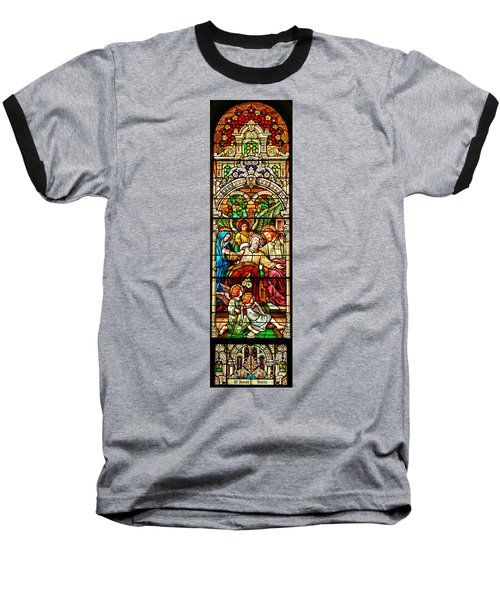 Baseball T-Shirt featuring the photograph Stained Glass Scene 1 - 4 by Adam Jewell