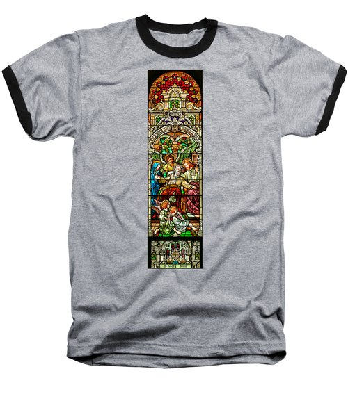 Baseball T-Shirt featuring the photograph Stained Glass Scene 1 by Adam Jewell