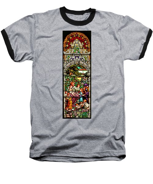 Baseball T-Shirt featuring the photograph Stained Glass Scene 12 by Adam Jewell