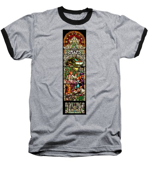 Baseball T-Shirt featuring the photograph Stained Glass Scene 12 Crop by Adam Jewell