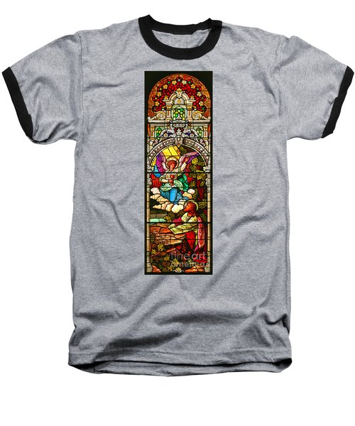 Baseball T-Shirt featuring the photograph Stained Glass Scene 7 Crop by Adam Jewell