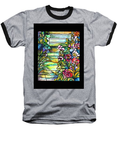 Stained Glass Tiffany Robert Mellon House Baseball T-Shirt