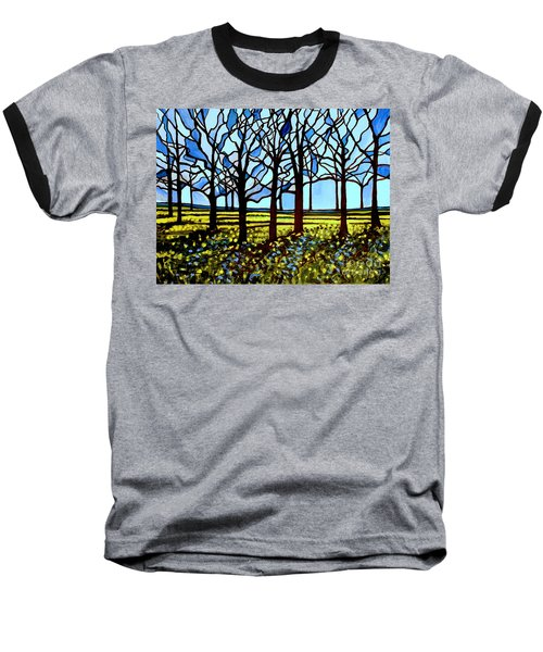 Stained Glass Trees Baseball T-Shirt