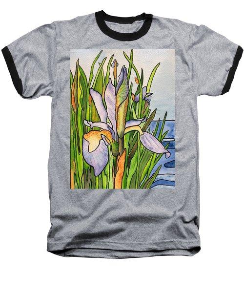 Stained Iris Baseball T-Shirt