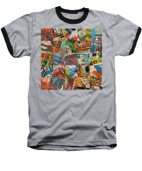 Stained Newspaper Pages Baseball T-Shirt
