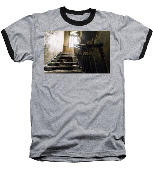 Stairs In Haunted House Baseball T-Shirt