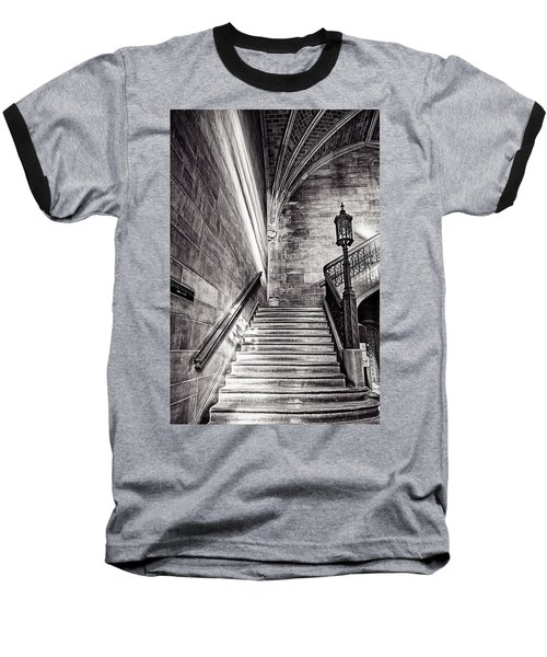 Stairs Of The Past Baseball T-Shirt by CJ Schmit