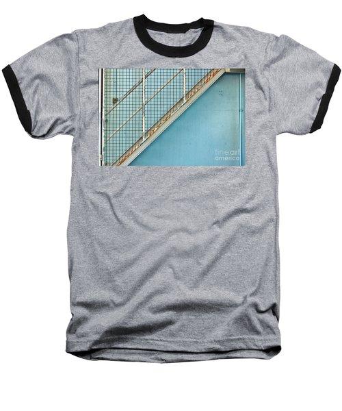 Stairs On Blue Wall Baseball T-Shirt