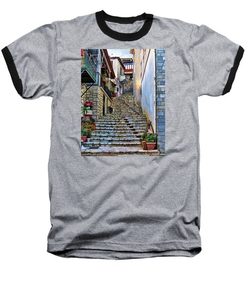 Stairs On Greek Island Baseball T-Shirt