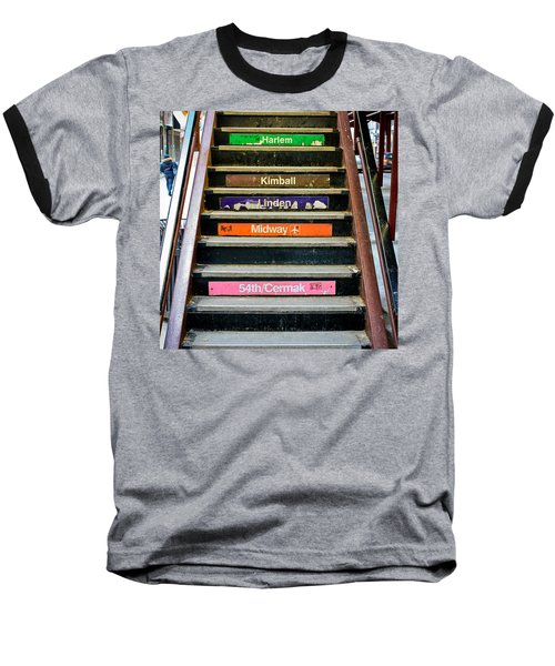 Stairs To The Chicago L Baseball T-Shirt