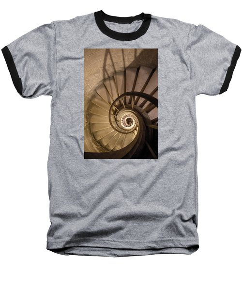 Baseball T-Shirt featuring the photograph Stairs To The Paris Pantheon Crypts by Jean Haynes