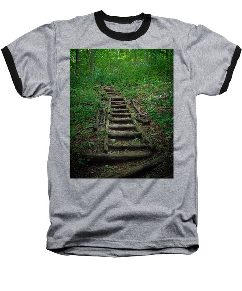 Stairway At Unicoi Gap On The At Baseball T-Shirt