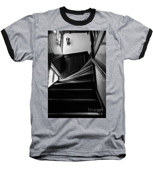 Baseball T-Shirt featuring the photograph Stairway In Amsterdam Bw by RicardMN Photography