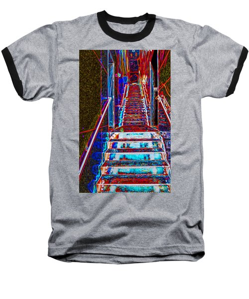 Stairway To Bliss Baseball T-Shirt by Phil Cardamone