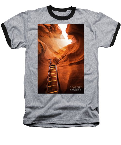 Stairway To Heaven Baseball T-Shirt by JR Photography