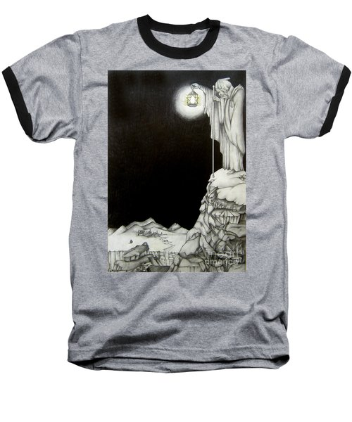 Baseball T-Shirt featuring the drawing Stairway To Heaven by Patrice Torrillo