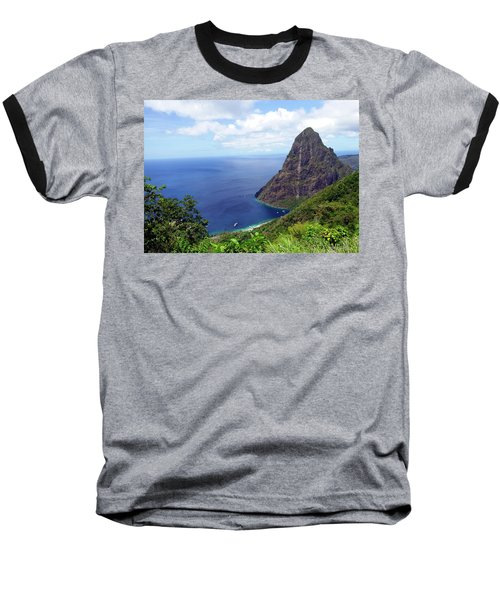 Baseball T-Shirt featuring the photograph Stairway To Heaven View, Pitons, St. Lucia by Kurt Van Wagner