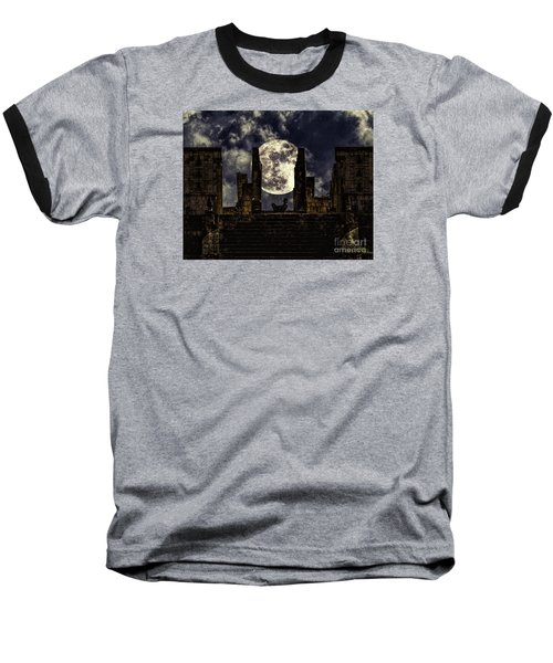 Baseball T-Shirt featuring the photograph Stairway To The Moon by Ken Frischkorn