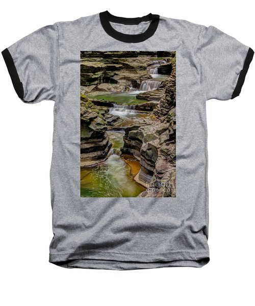 Stairway Waterfalls Baseball T-Shirt