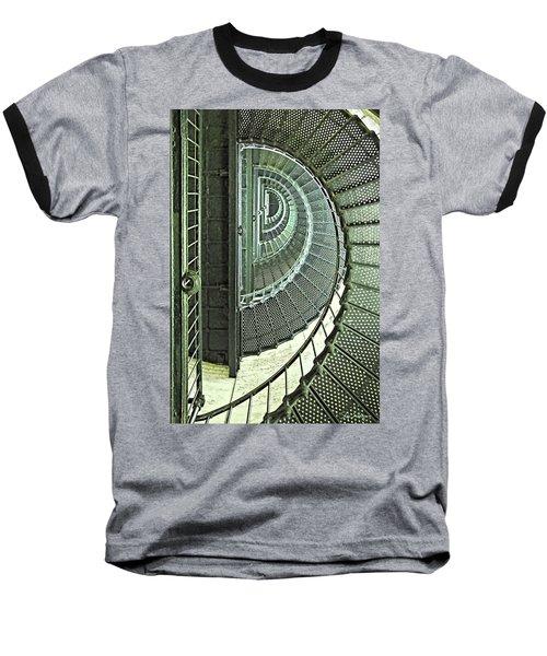 Stairwell Currituck Beach Lighthouse Baseball T-Shirt