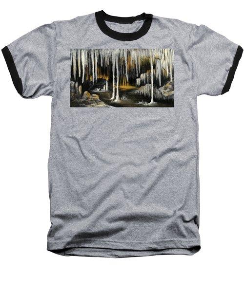 Baseball T-Shirt featuring the painting Stalactite Cave by Anastasiya Malakhova