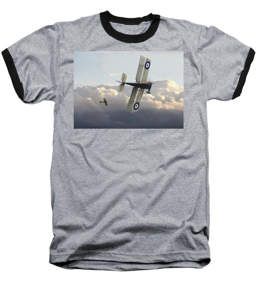 Baseball T-Shirt featuring the digital art Stalked - Se5 And Albatros Dlll by Pat Speirs